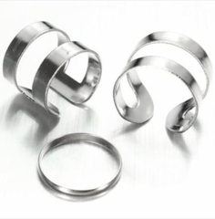 Ring Set Spiral Silver - 3 Pieces