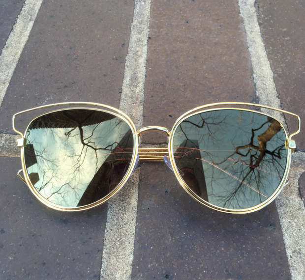 Mirrored Metal - Bronze Lens - E020 - BRONZE