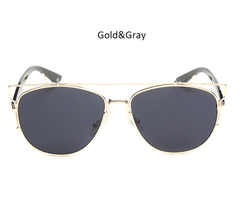 Mirina Sunnies Gold w/ Smoke Lens - M020 - GOLD.GRAY