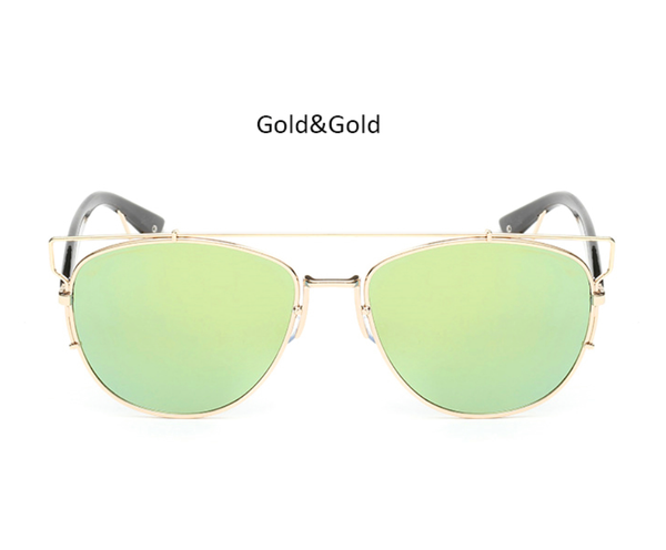 Mirina Sunnies Gold w/ Iced Bronze - M020 - GOLDWGOLD