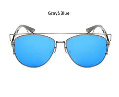 Mirina Sunnies Gray w/ Blue - M020 - GRAYBLUE