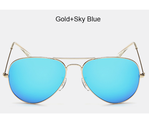 Chelsea - Gold w/ Sky Blue Lens - AW111 - GOLDSKYBLUE
