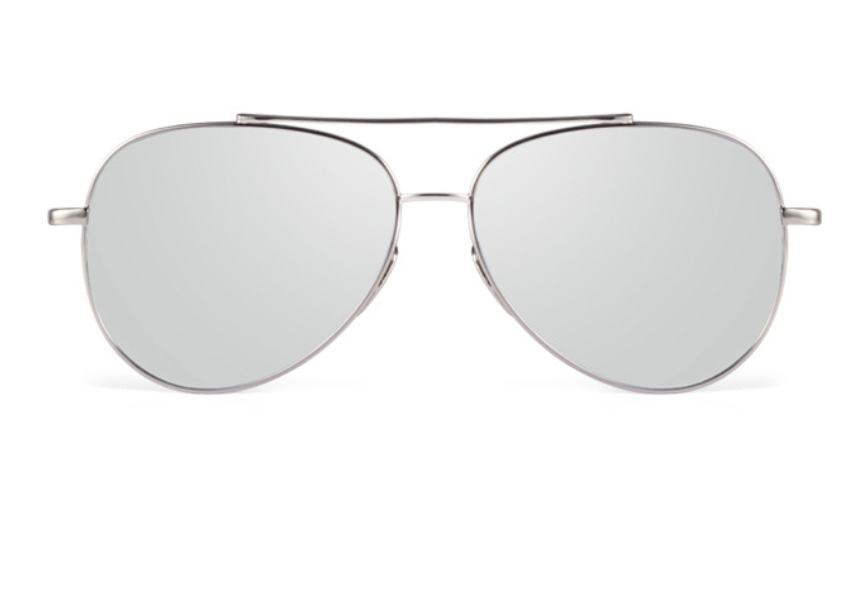 black and silver aviators  Luxury Aviators - Flat Bar - Silver w/ Silver Lens - X117 - gray ...