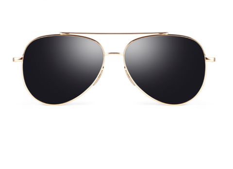 Aviators Premium Flat Bar - Gold w/ Gray Lens - X118 - GOLDGRAY