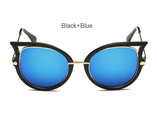 Cat Eye - Black w/ Blue Lens - D057 - BLACKBLUE