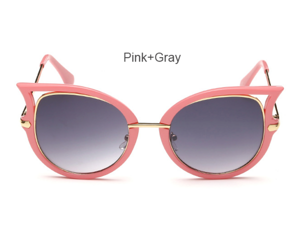 Cat Eye - Pink with Gradient Lens - D057 - PINKGRAY