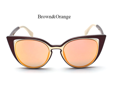Fender Goes Hallow - Brown w/ Orange Lens - E013 - BROWNORANGE