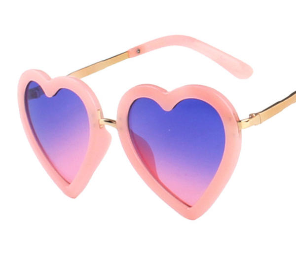 Love Sunnies - Pink w/ Blue & Pink Lens - AN023 - PINKBLUEPINK