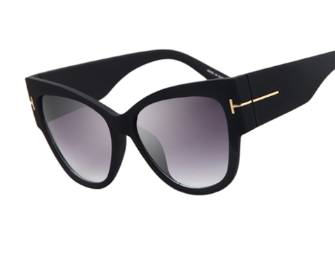 Luxury Is In Sunnies - Matte or Shiny Black Frame - X149