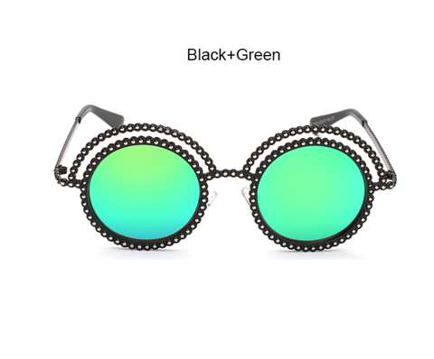 Chanal Black w/ Green - E058 - BLACK GREEN