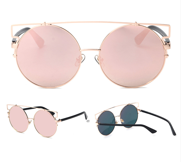 Oversized Round Mirina Sunnies - 5 Color Options - X250