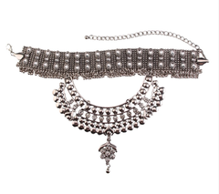 Bethany Silver w/ Clear Stones Choker