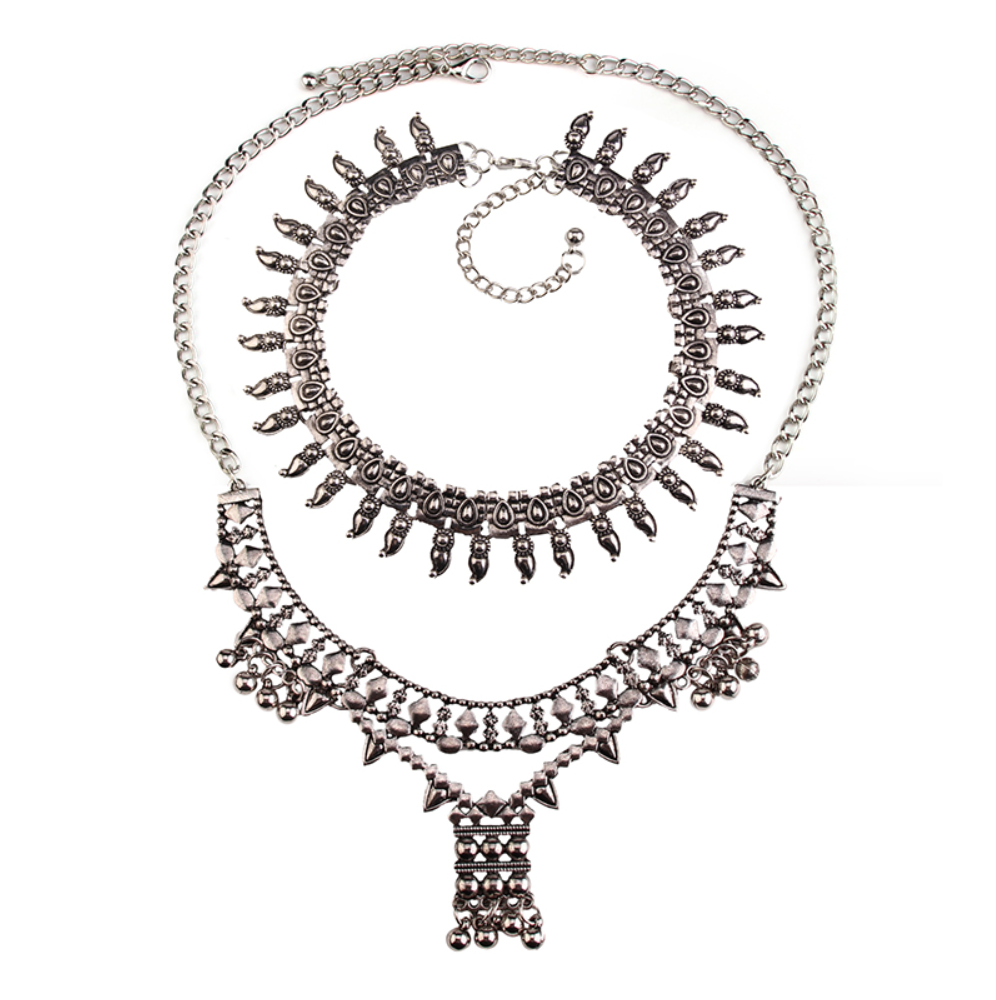 Arianna 2 Piece Famous Necklace - Choker & Necklace