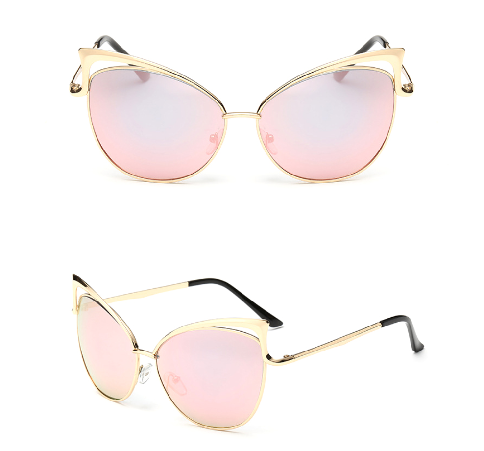 Cat Eye - Gold w/ Rose Gold Lens - NN014 - GoldPink