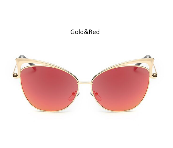 Cat Eye - Gold w/ Red Lens - NN014 - GOLDRED