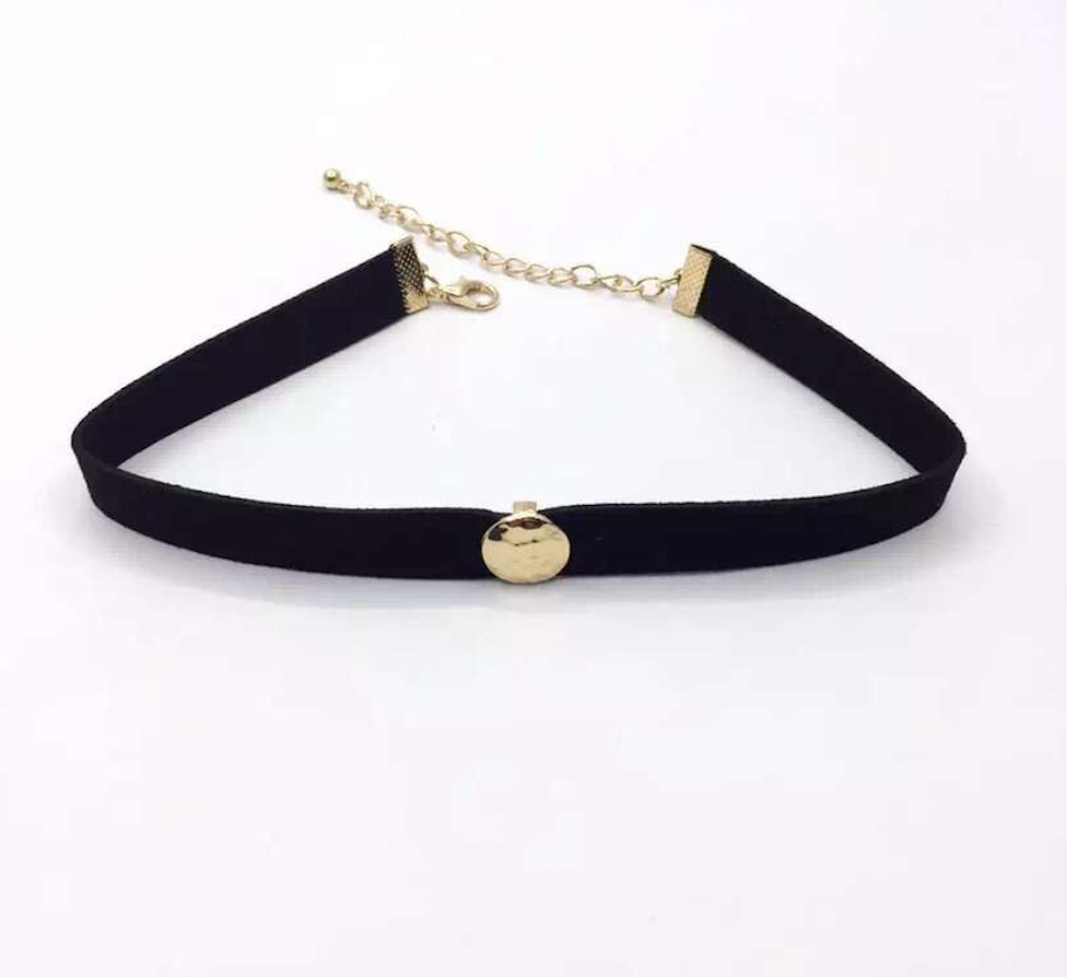 Choker Set - Black Star Layered - 2 Pieces