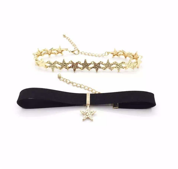 Choker Set - Gold Stars - 2 Pieces
