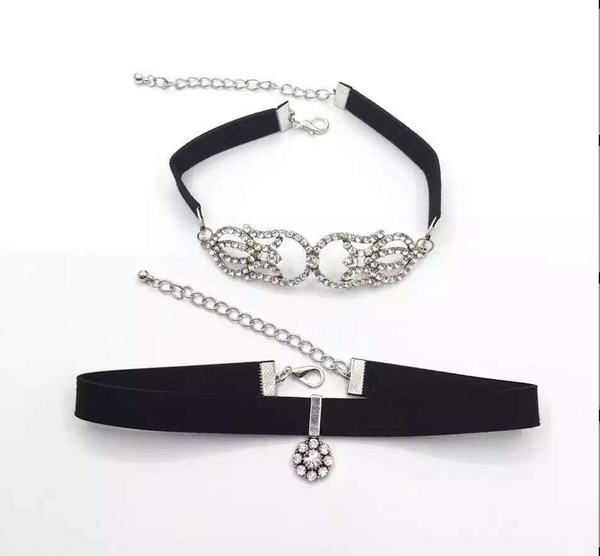 Choker Set - Ultimate Detailed Crystal Set - 2 Pieces