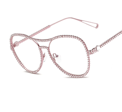 Diamond Clear Frame - Gold, Silver, Rose Gold - D151