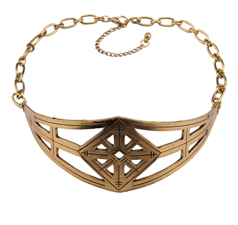 Bohemian Choker - Brass Finish
