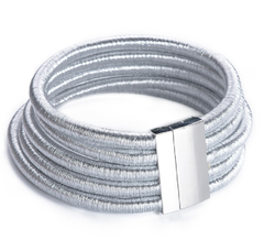 Beverly Silver - Silver Rope Choker - Magnetic Clasp