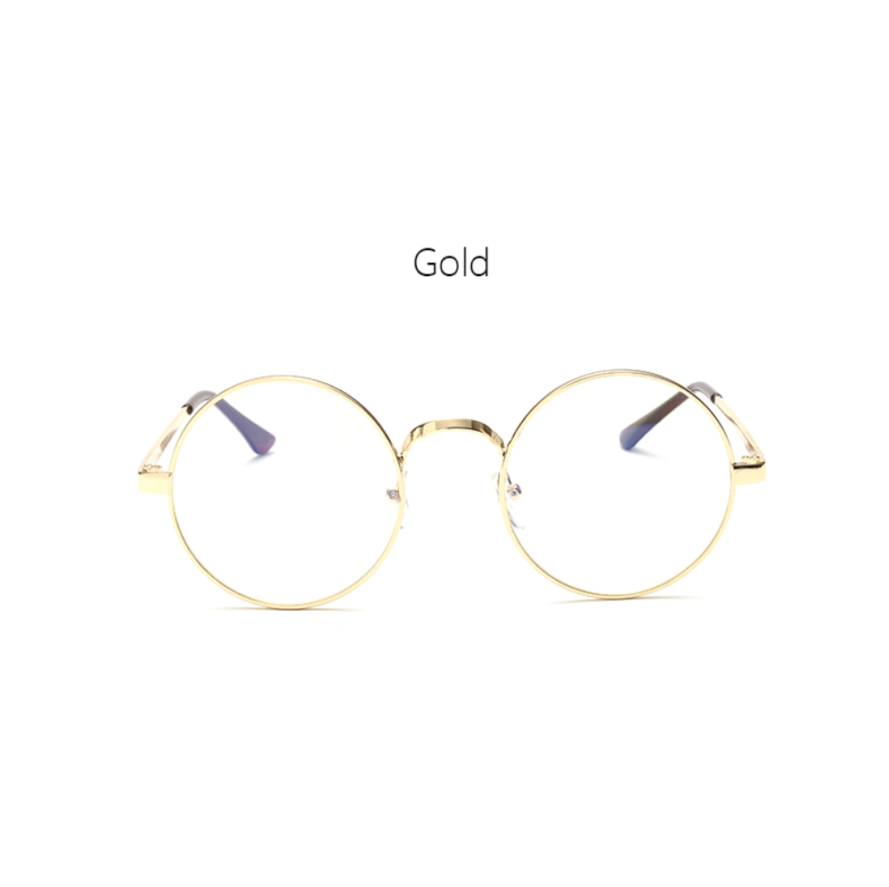 Round Clear Frame - Gold, Silver, Black - D088