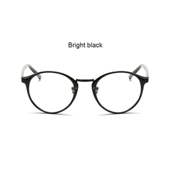 Colorful Round Clear Frame - Black, Brown, Floral, Spotted Black - D050