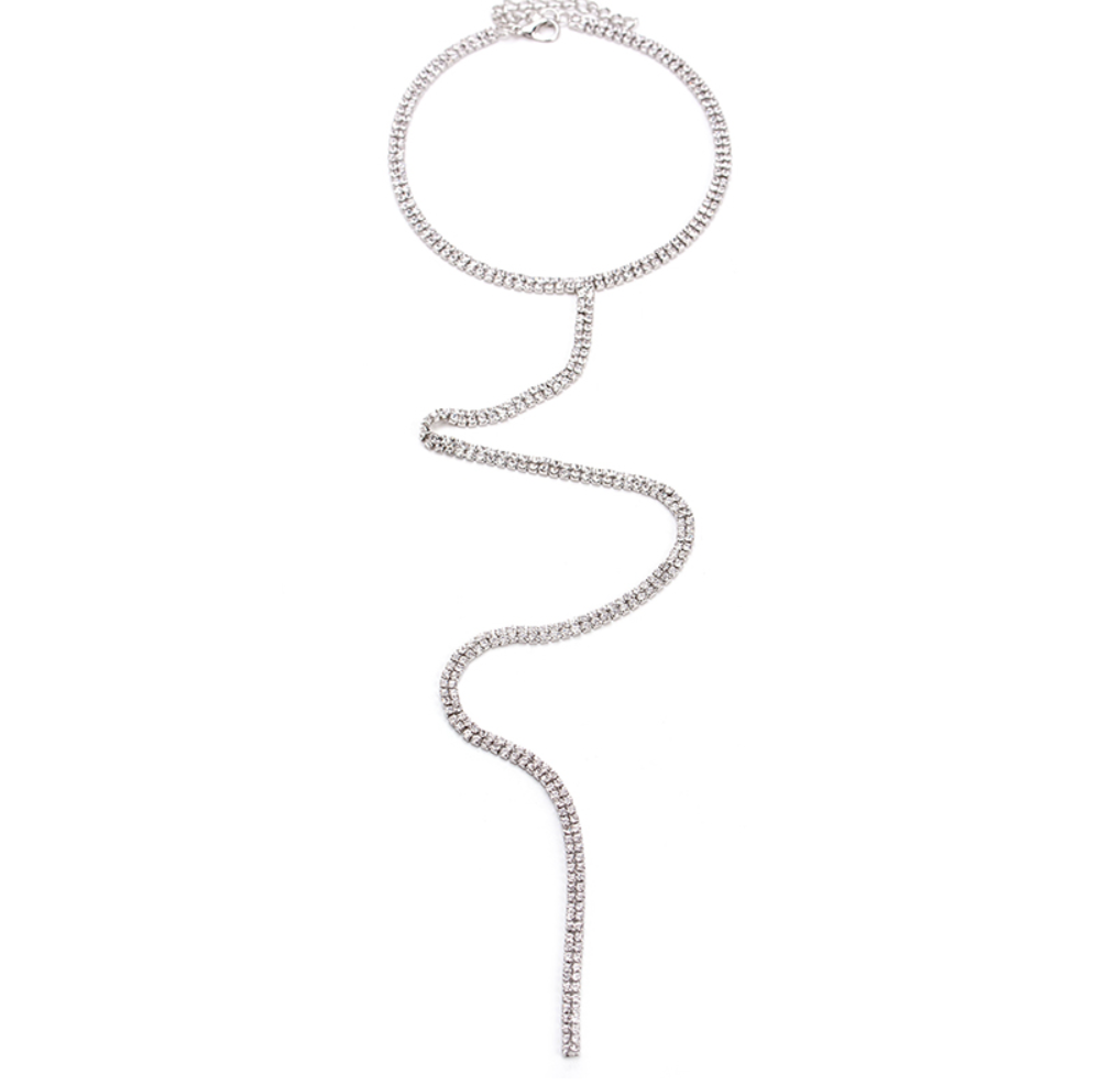 Delicate Crystal Chain Necklace