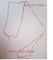 Leg Chain - 2 Pieces - Silver or Gold