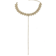 Glam Detailed Choker - Gold or Silver Finish