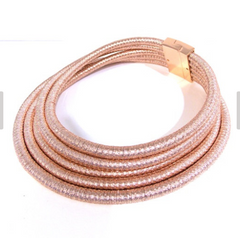 Beverly Rose Gold - Rose Gold Rope Choker - Magnetic Clasp