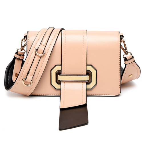 Rose Gold Pink Handbag - Belt Clasp