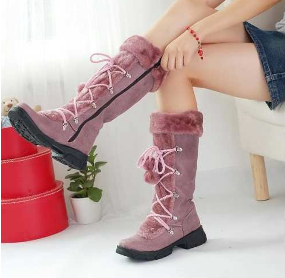 Snow Bunny Boots - Rose Gold Pink