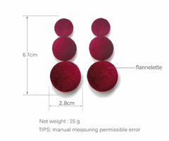 Statement Velvet Earrings - Many Color Options