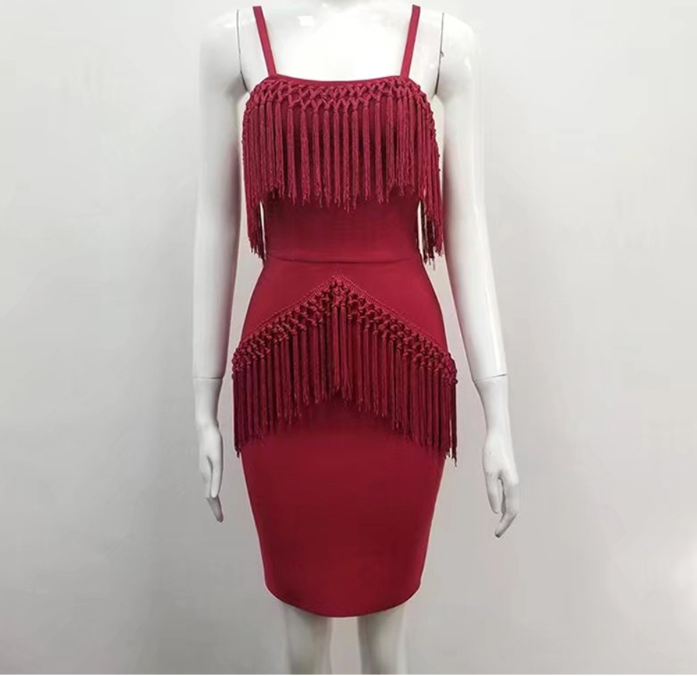 Red Fringe Dress - Use the discount code MINE to take 75% OFF w/ FREE shipping - Get it for $89
