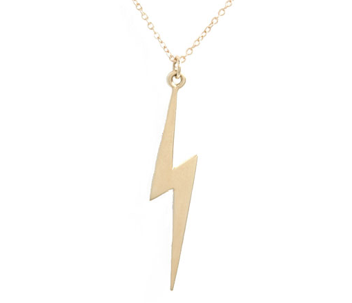 A Lightning Bolt Necklace - Simple - Gold or Silver
