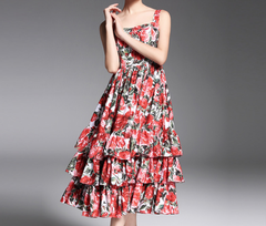 The New Floral Print Day Dress - CHIC Ruffled Floral Day Dress