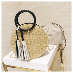 Round Straw Handbag - Famous Handbag! 3 Color Options
