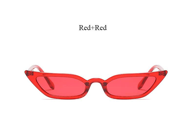 BFF Acrylic Eye Wear - Acrylic Cat Eye Sunglasses - Red Acrylic Sunnies + 5 other color options