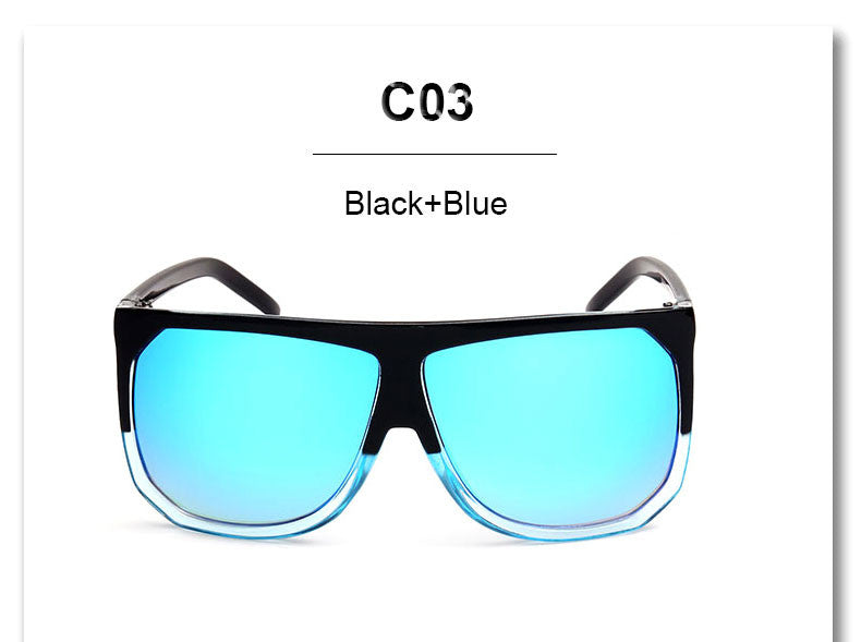 Italian Clear Square Sunglasses