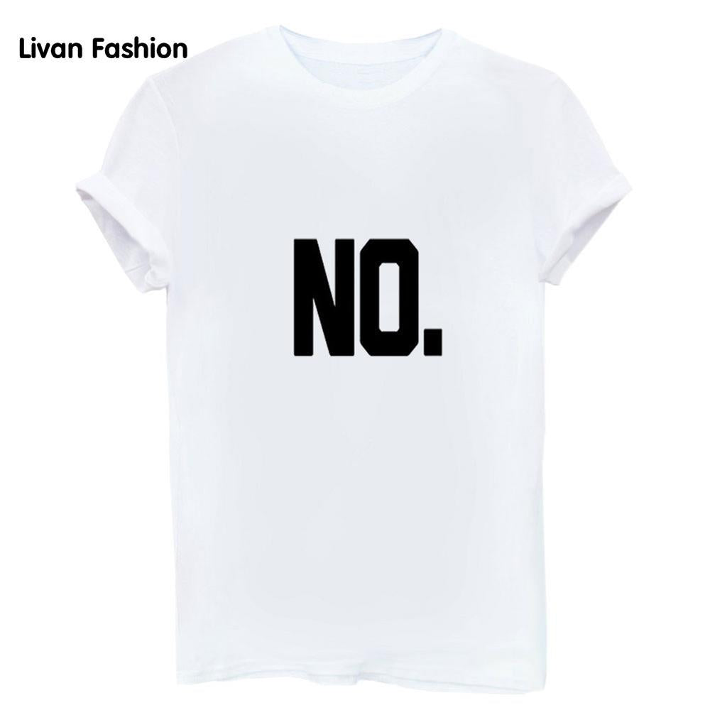 NO Graphic Tee Shirt - White, Gray or Black Graphic T Shirts