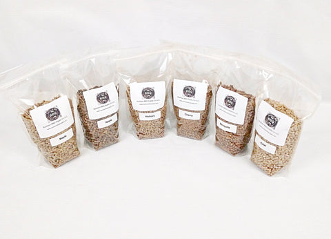6 varieties BBQ wood pellets Hickory, Apple, Cherry, Maple and Mesquite 12LB