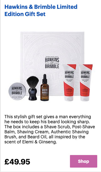 Hawkins and Brimble Grooming Gift Set for Men for Christmas