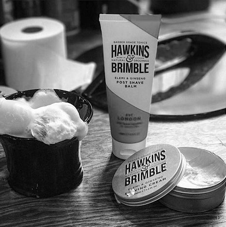 Hawkins & Brimble after shave balm shave cream