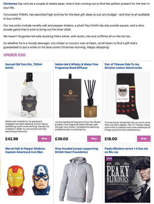 Daily Mail Femail Gift Ideas Guide for Men Under £50 Hawkins and Brimble Grooming Gift Set