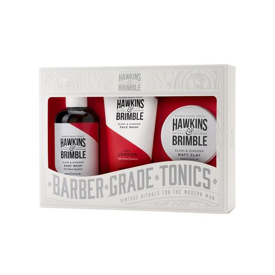 Hawkins & Brimble Root to Tip Body Care Set - Gifts - Hawkins & Brimble Barbershop Male Grooming Products for Beards and Hair