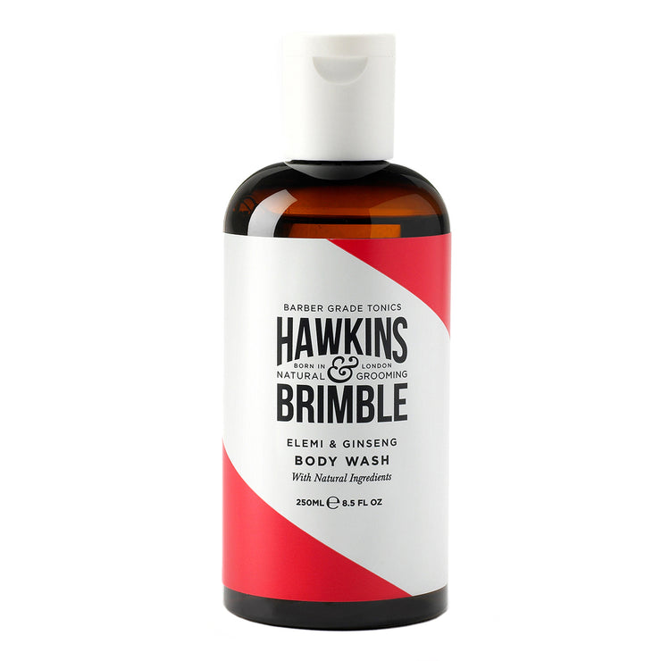 Body Wash 250ml - Shower - Hawkins & Brimble Barbershop Male Grooming Products for Beards and Hair
