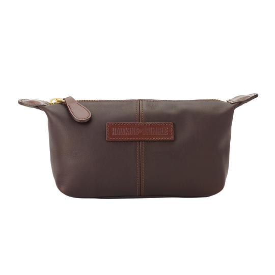 Hawkins & Brimble Wash Bag (Brown Bridle Leather) -  - Hawkins & Brimble Barbershop Male Grooming Products for Beards and Hair