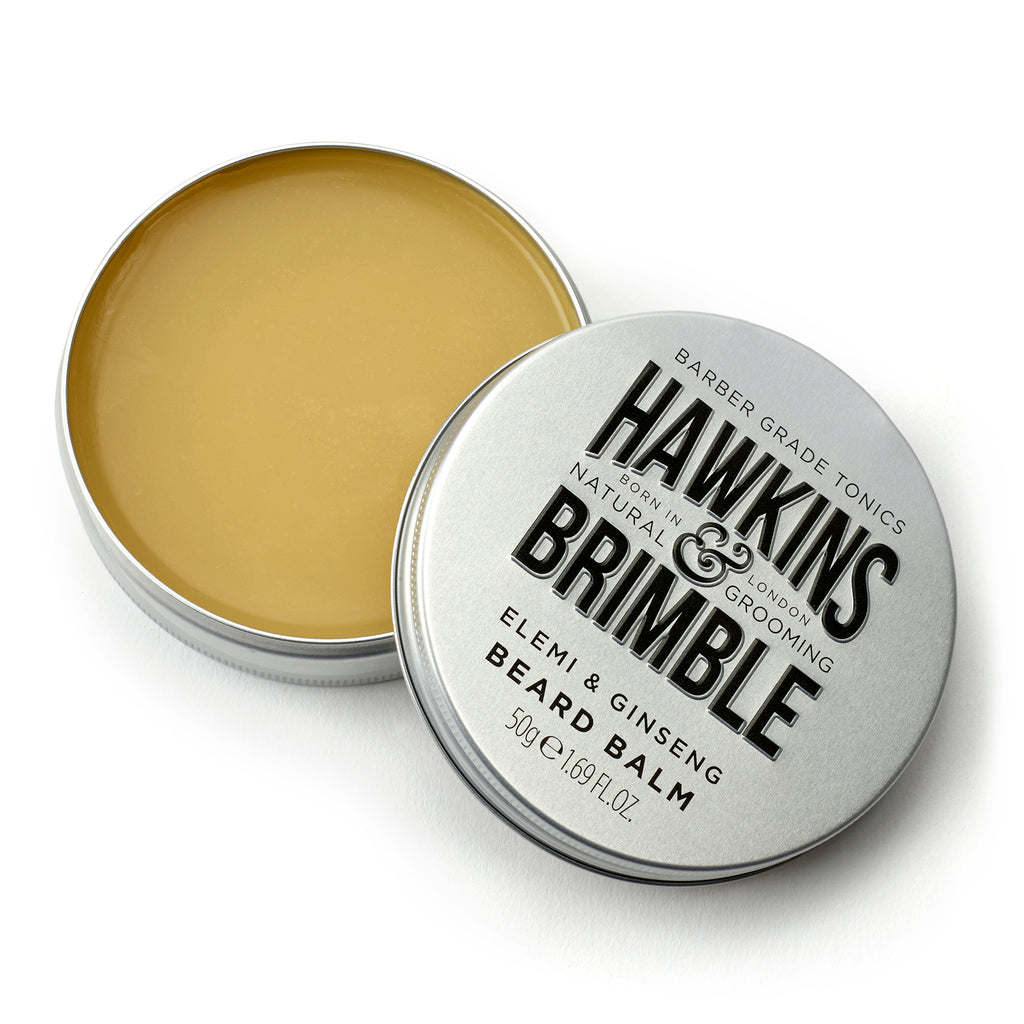 Beard Balm -  - Hawkins & Brimble Barbershop Male Grooming Products for Beards and Hair