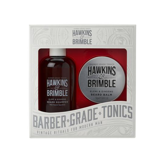 Hawkins & Brimble Beard Gift Set - Gifts - Hawkins & Brimble Barbershop Male Grooming Products for Beards and Hair